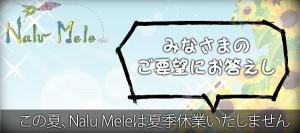 この夏、Nalu Meleは夏季休業いたしません